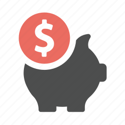 bank, business, ecommerce, finance, guardar, money, pig, piggy, save icon