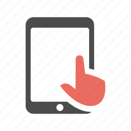 finger, gesture, ipad, swipe, tablet, tap, touch icon
