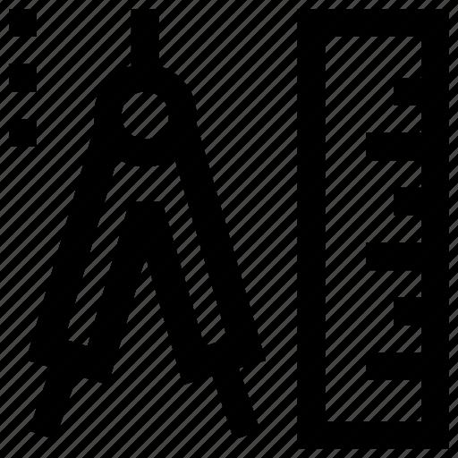 distance, measurements, range, scale, survey, tools, valuation icon