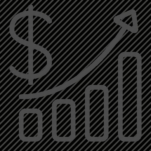 business, chart, dollar, finance, graph, profit, report icon