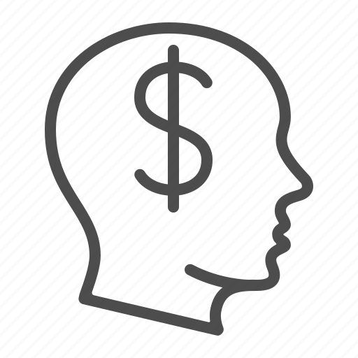 business, dollar, finance, head, idea, money, thinking icon