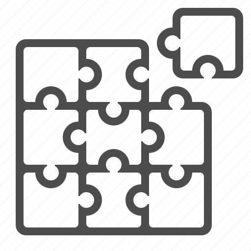 game, logic, puzzle, puzzle piece, strategy, tactic icon