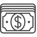 banknote, bill, cash, dollar, money, stack icon