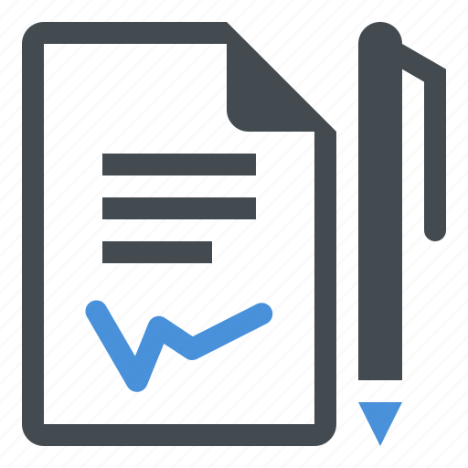 business, contract, document, file icon