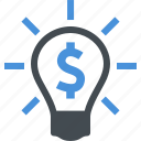 business, creativity, idea, money icon