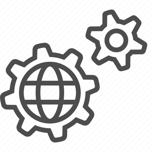 business, cogs, gear, global, mechanism, sprockets icon