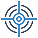aim, bullseye, business, goal, target icon