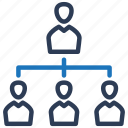 business, hierarchy, management, network, organization, structure icon