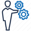 business, cog wheel, gear, manager, operator icon