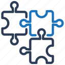 business, piece, puzzle, solution, strategy icon