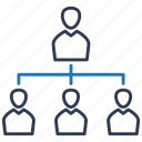 business, hierarchy, management, organization, structure icon
