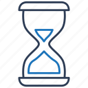 clock, hourglass, sand timer, sandglass, time, timer icon