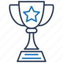 achievement, champion, cup, prize, trophy, winner icon