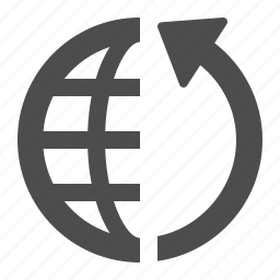 arrow, communication, global, globe, internet, web icon