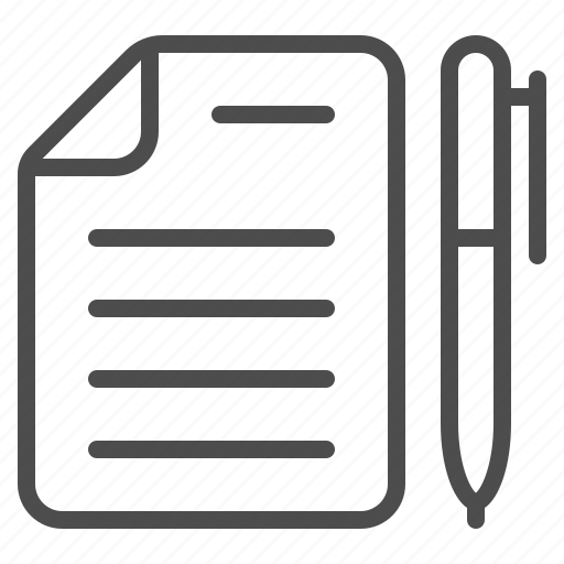 contract, document, file, paper, pen, sheet, writing icon