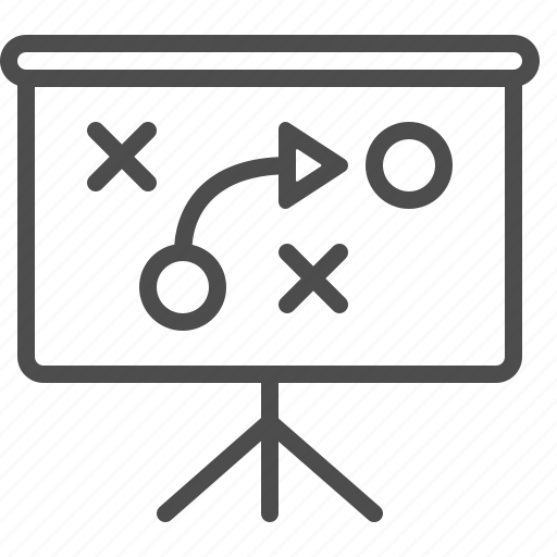 plan, projection screen, strategy, tactics icon