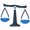 balance, court, crime, government, justice, law, measure icon
