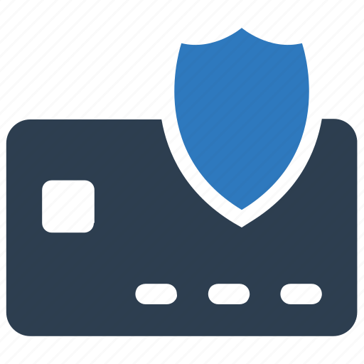 card, credit, payment, protection, shield icon