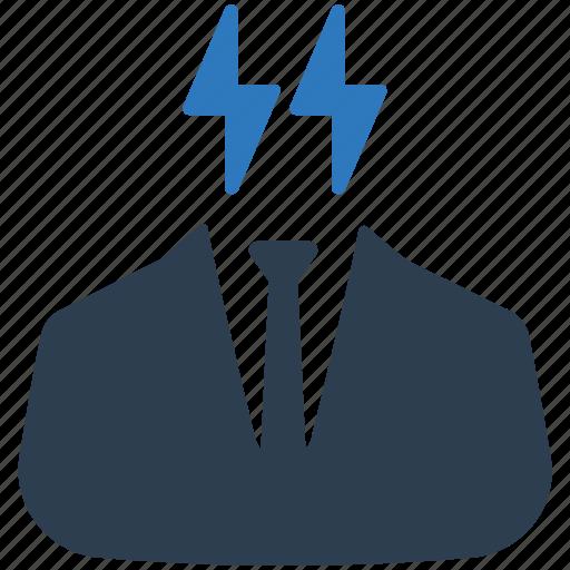 business idea, businessman, clever, idea, planning icon