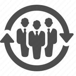 arrows, businessman, businessmen, men, team icon