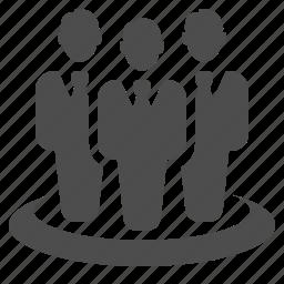 business, businessman, businessmen, man, team icon
