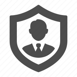 business, businessman, investment, security, shield icon