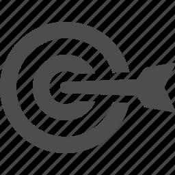arrow, bullseye, dart, goal, target icon