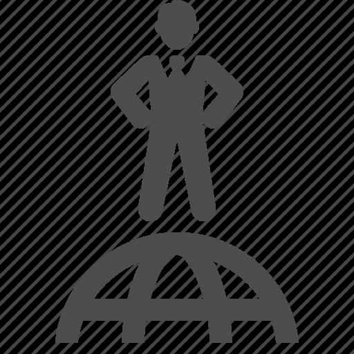 business, businessman, global, globe, network icon