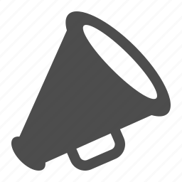 bullhorn, communication, loudspeaker, megaphone icon