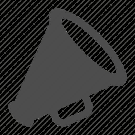 bullhorn, communication, loudspeaker, megaphone icon