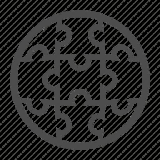 business, globe, puzzle icon