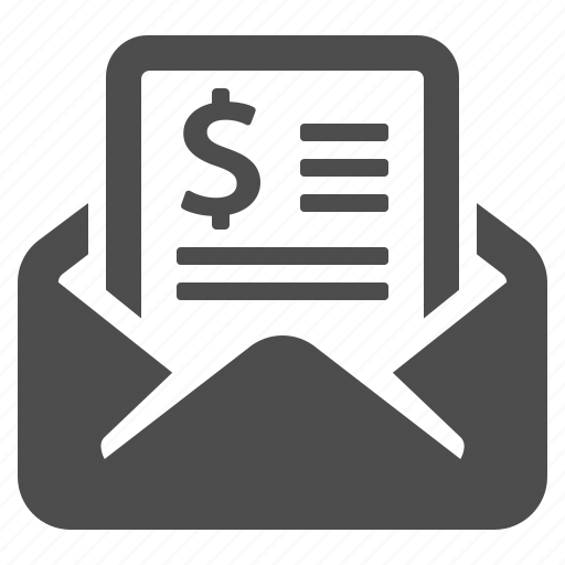 bill, business, envelope, finance, letter, mail icon