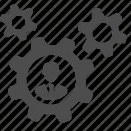 business, businessman, cog, gear icon