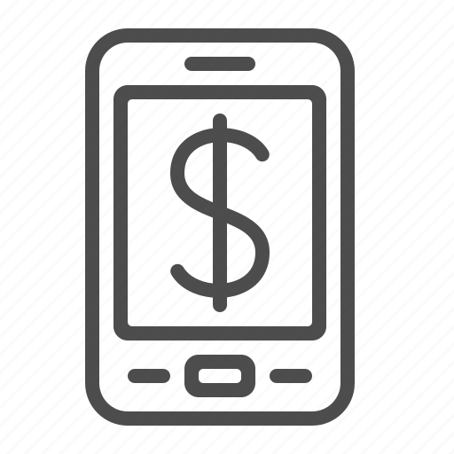 dollar, mobile phone, online banking, online shopping, price, smartphone icon