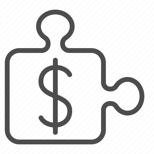 business, dollar, finance, logic, piece, puzzle, strategy icon