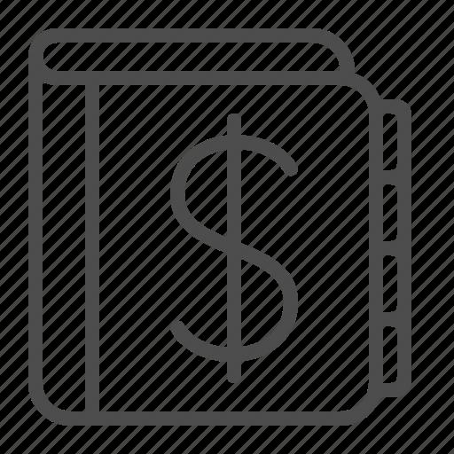 Accounting Dollar Ledger Log Money Icon