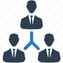 business, corporate hierarchy, hierarchy, leader, team icon