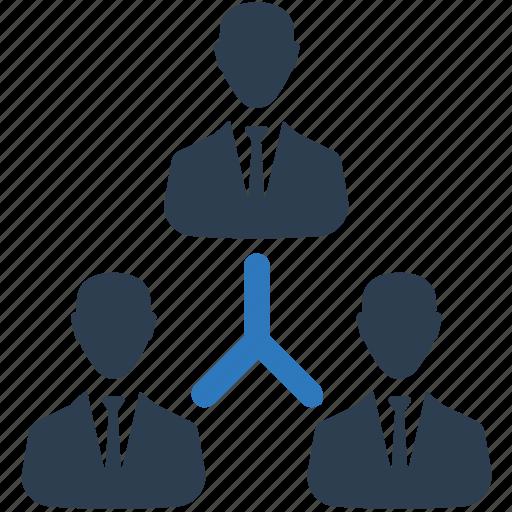 business, corporate hierarchy, hierarchy, leader, team icon