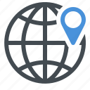 business, globe, gps, location icon