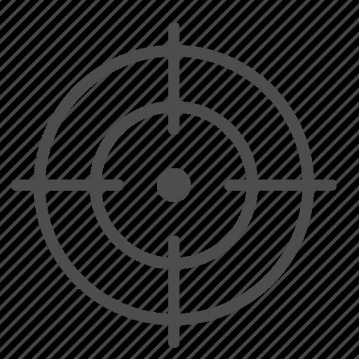 aim, crosshairs, target icon
