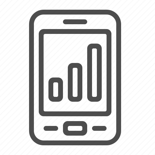 chart, graph, mobile phone, smartphone icon