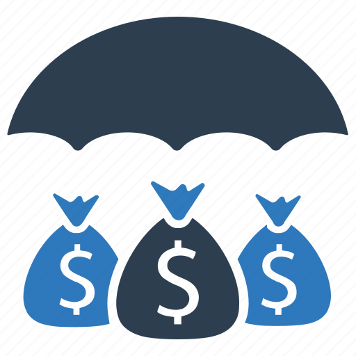 Business insurance, money, money insurance, money umbrella, protection, security icon - Download on Iconfinder