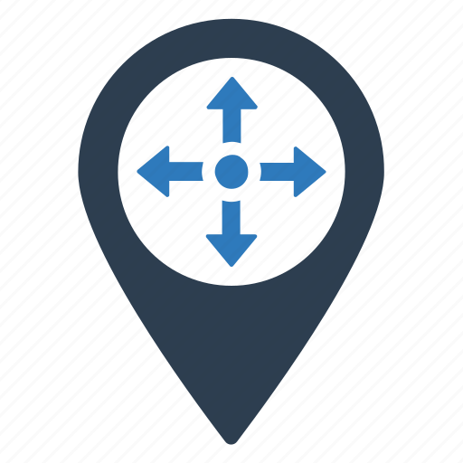 Direction, location, location pin, map, navigation, pin icon - Download on Iconfinder