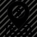 business, location, money, navigation icon