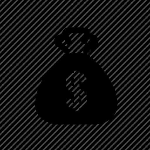 bag, budget, business, dollar, finance, money, money bag icon