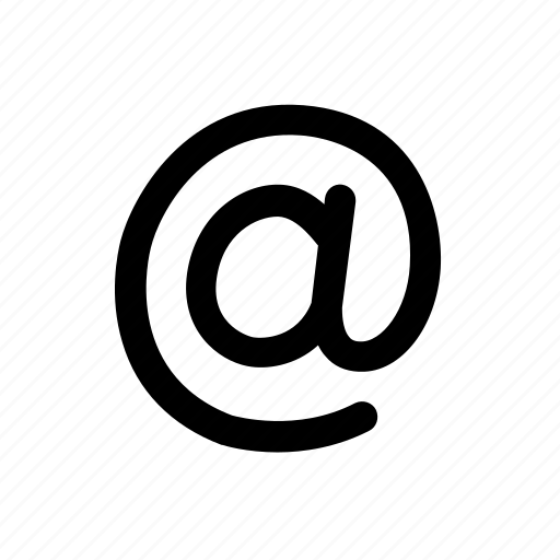 at, at sign, business, electronic mail, email, message, shop icon