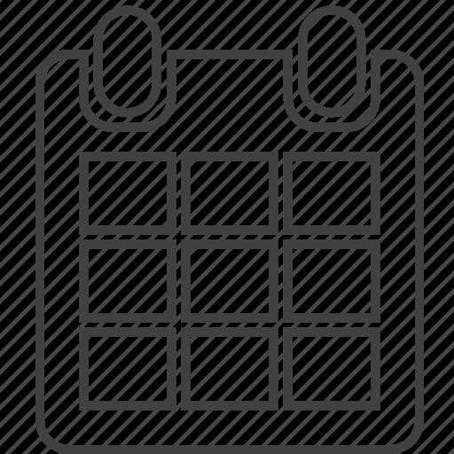 binder, calendar, date, event, plan, planning, reminder icon