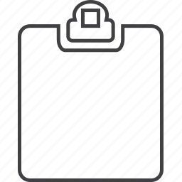 clipboard, document, file, plan icon