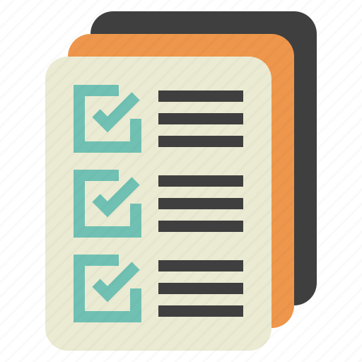 check, control, documents, list, quality icon