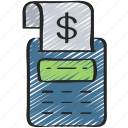 accounting, business, calculator, finances, money icon